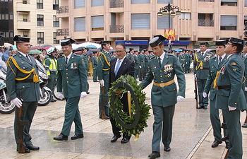 Federico Pozuelo, subdelegado del Gobierno en Albacete, ha presidido los actos de la Patrona de la Guardia civil.