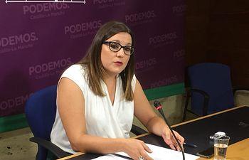 María Díaz, Secretaria de Organización y diputada de PODEMOS en Castilla-La Mancha