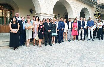 El presidente de la Diputación de Albacete visita Alcalá del Júcar con motivo de las Fiestas Mayores en honor a San Lorenzo
