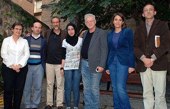 La vicerrectora y el director de la Escuela recibieron a los representantes de la ONG.