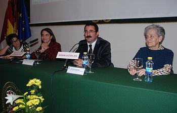 Barrenechea, Aranda, Galán y Navascues durante el acto inaugural de la Jornada.