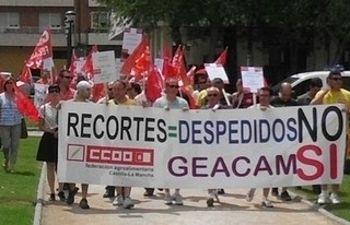 Imagen de archivo de las movilizaciones de GEACAM