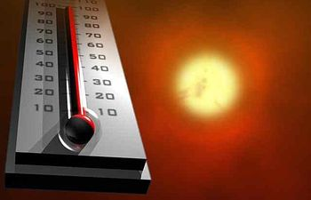 Una masa de aire muy cálido y seco dispara los termómetros y en media España se superarán los 38 grados. Imagen de archivo.