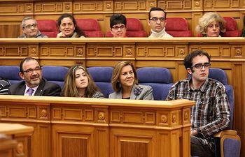 Cospedal participa en el Pleno extraordinario del Día de la Discapacidad. Foto: JCCM.