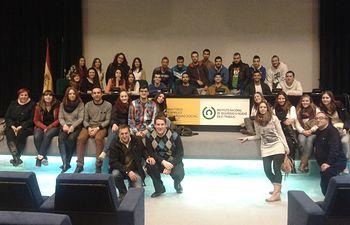 Alumnos de la UCLM, al término de su visita.