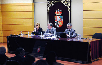 Imagen del Consejo de Gobierno celebrado en el Campus de Cuenca.  © Gabinete de Comunicación UCLM