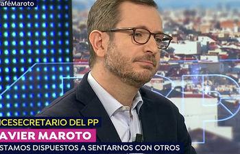 """El vicesecretario de Política Social y Sectorial del PP, Javier Maroto, es entrevistado en """"Un Café con Susanna"""" de Antena 3"""