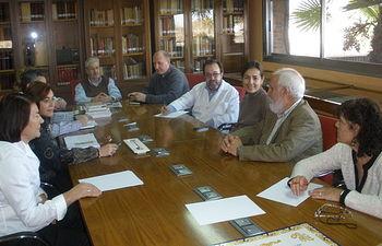 Reunión de María Seguí con el cuadro directivo del ICS. Foto: JCCM.
