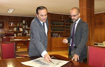 Gregorio se reúne con el director regional del Instituto Geográfico Nacional en Castilla-La Mancha, Juan José Peces