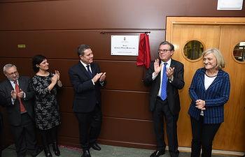 Homenaje que la Universidad de Castilla-La Mancha rinde al exministro Alfredo Pérez Rubalcaba. (FOTOS:José Ramón Márquez //JCCM ).