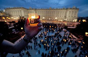 La hora del planeta 2012 en Madrid. Foto: WWF Spain