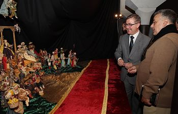 Marcial Marín inaugura el Belén del Museo Santa Cruz-Santa Fe 1. Foto: JCCM.