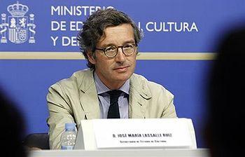 El secretario de Estado de Cultura, José María Lasalle. Foto: Ministerio.