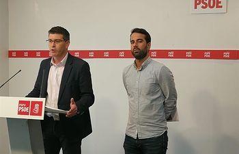 Jorge Rodríguez y José Muñoz en rueda de prensa TWITTER PSPV