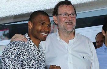 Thomas Dulorme junto a Mariano Rajoy
