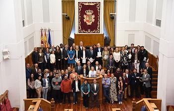 Sesión institucional en las Cortes regionales contra la pobreza. (Fotos: José Ramón Márquez // JCCM).