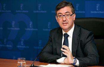 rueda de prensa ofrecida por el consejero de Educación, Cultura y Deporte, Marcial Marín