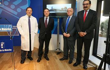 El presidente de Castilla-La Mancha presenta el Plan Funcional del Hospital de Albacete. Foto: JCCM.