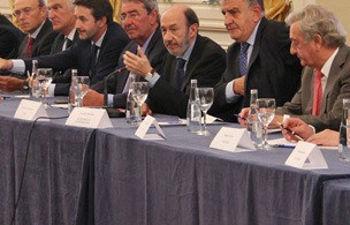 Reunión de Rubalcaba con empresarios vascos.