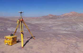 Punto topográfico-Desierto de Atacama.