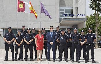 Visita del Alcalde a los nuevos policías municipales