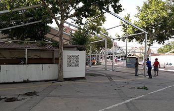 Montaje carpas Feria de Albacete 2017.