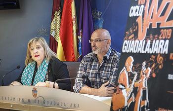 Presentación del VIII Ciclo de Jazz. Guadalajara 2019; Riansares Serrano y Julio Gómez. Foto: ©JRopero