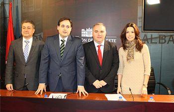 """Núñez califica el borrador del Plan del Júcar como """"histórico"""" para la provincia de Albacete, y destaca la voluntad política de la presidenta Cospedal"""