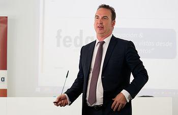 Mike Mösch, durante su conferencia en FEDA