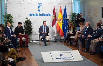 Desayuno informativo del presidente de Castilla-La Mancha, Emiliano García-Page, en Albacete