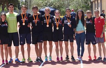 Equipo de atletismo de la UCLM.
