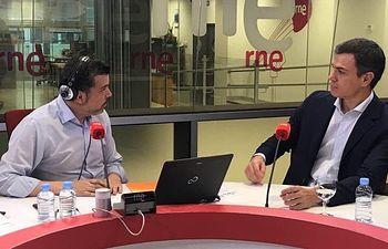 Pedro Sánchez, en una entrevista en Las Mañanas de RNE