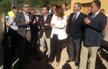 Visita presa Siles, Jaén. Foto: Ministerio de Agricultura, Alimentación y Medio Ambiente