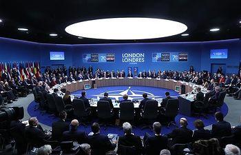 El presidente del Gobierno en funciones, Pedro Sánchez, participa junto a otros líderes, en la Cumbre de la OTAN.