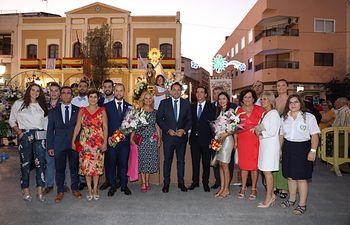 PP-CLM (Fotografías y pie de foto) Paco Núñez participa en la ofrenda y la procesión en honor a la Virgen de la Piedad en Quintanar de la Orden. 150819.