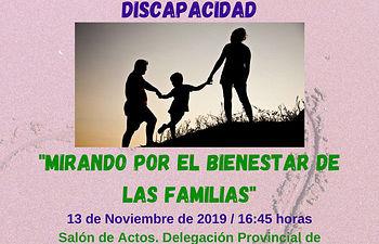 """Jornada de información y apoyo a familias con un hijo con Discapacidad: """"Mirando por el Bienestar de las Familias"""". Foto: Fórum Discapacidad de Cuenca"""