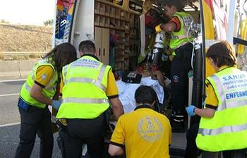 Ambulancias. Foto: EFE