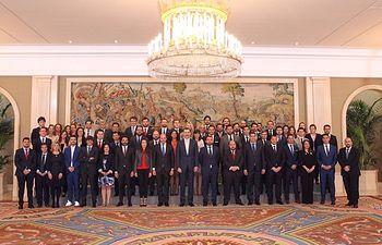 Recepción en el Palacio de la Zarzuela por SM el Rey a la representación de Jóvenes Empresarios, donde también han asistido integrantes de Aje Albacete.