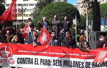 Foto: Manifestación del día 10 de marzo de 2013 en la Plaza del Altozano de Albacete.