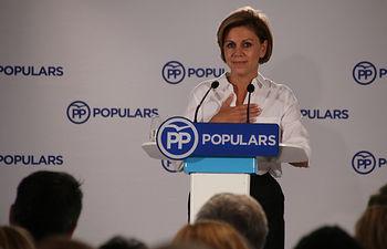 Cospedal clausura un acto con simpatizantes del Partido Popular en Barcelona