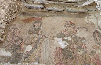 Detalle del yacimiento 'Villa Romana de Noheda', en la provincia de Cuenca.