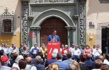 Pedro Sánchez en Las Palmas de Gran Canaria.