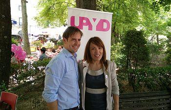 El portavoz nacional de UPYD, Cristiano Brown, y la Coordinadora Territorial de CLM, Ana Rosa Quintana