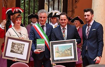Almansa escenifica un acuerdo de paz para Europa en una España unida.