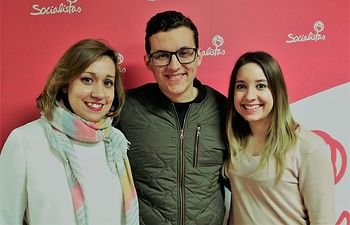 Javier Boj, Esperanza Martínez y Eva Marín.