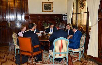 Isabel García Tejerina se reúne con la Interprofesional del Aceite de Orujo de Oliva. Foto: Ministerio de Agricultura, Alimentación y Medio Ambiente