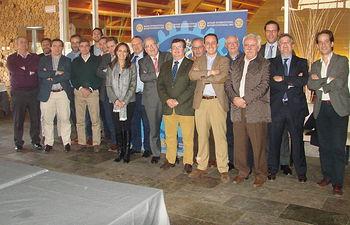 Miguel Ángel Gozalo con el Club Rotario en Ciudad Real.