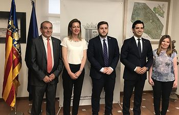 El portavoz del Gobierno regional, Nacho Hernando, asiste al acto de encuentro de las casas de Castilla-La Mancha en la Comunitat Valenciana y arraigados en Paterna