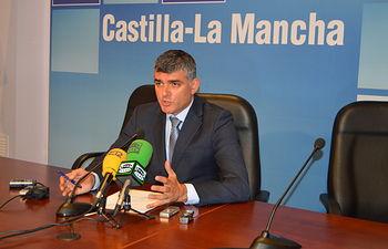 El delegado de la Junta en Cuenca, Ángel Tomás Godoy