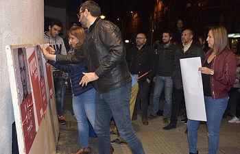 Pegada de Carteles del PSOE de Talavera de la Reina
